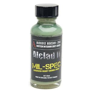 ALCLAD2, ALCE012, MIL-SPEC BRITISH INTERIOR GREY-GREEN, ENAMEL MATT, BSC381-283