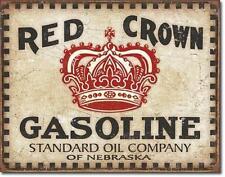 Red Crown Gasoline USA Standard Oil Tankstellen Vintage Design Metall Schild