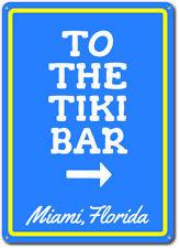 Tiki Bar Direction Sign Custom Restaurant Personalized Metal Wall Decor Plaque