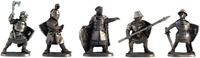 Tin soldier Teutons A set of tin soldiers 40-50mm 5 figures EK Castings