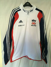 "NEW BNWT adidias SKY team GB sweat shirt track suit top Ital 5 38"" / 40"""