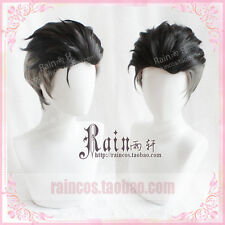 YURI!!! on ICE Otabek ALTIN Wig Black Short Pale hair Slicked-back Cosplay New