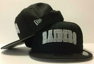 Las Vegas Raiders New Era 9FIFTY NFL Adjustable Snapback Hat Cap Black Block 950
