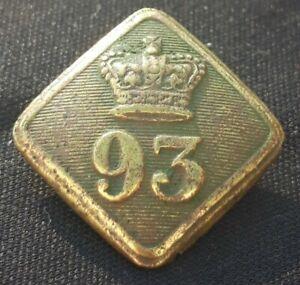 93rd Regiment of Foot Lozenge Button (1855-56) Sutherland Highlanders 22mmX20mm