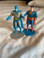 Vintage 1988 Burger King Batman & Superman Figure Cup Holders CUPS NOT INCLUDED