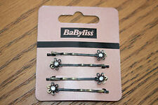 Babyliss 4 Pack De Style Vintage Cristal Strass Daisy clips cheveux Grips diapositives