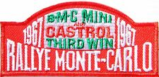 CASTROL Oil BMC MINI RALLYE MONTE CARLO Patch Iron on Jacket Cap T-shirt Logo