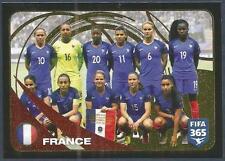PANINI-2017 FIFA 365- #288-FRANCE WOMEN TEAM PHOTO-GOLD FOIL
