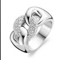 New Genuine Ti Sento Sterling Silver CZ Ring  1587ZI Size 54 £115
