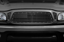 Custom Aftermarket Steel Grille AMERICAN FLAG for 01-04 Toyota Tacoma TRD Truck