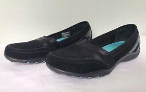 SKECHERS Womens Black Relaxed Fit Memory Foam Slip On Shoes UK 5.5 Comfort VGC