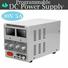 0-30V 5/0A DC POWER SUPPLY ADJUSTABLE PRECISION VARIABLE DIGITAL LAB GRADE TEST