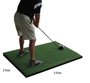 3' x 5' Commercial Nylon Pro Golf Turf Foam Mat Chipping Driving Range Practice