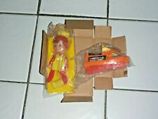 Vintage Mib Remco Adventure Boy with Snowmobile+ Finger Ding Puppet Doll - Rare!