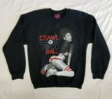 """NWT MEN'S TITS (TWO IN THE SHIRT) """"CRAWL BEFORE YOU BALL"""" SWEATSHIRT NAVY SIZE:M"""