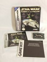 Star Wars: FLIGHT OF THE FALCON (Game Boy Advance GBA) COMPLETE CIB tested