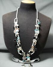New ListingWomen'S Zuni Turquoise Disney Sterling Silver Squash Blossom Necklace