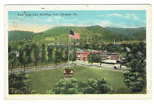 Port Allegany Pennsylvania View from City Building posted 1927