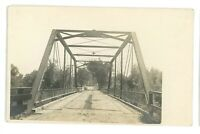 RPPC Iron Truss Bridge BELLEVILLE WI Wisconsin Dane County Real Photo Postcard