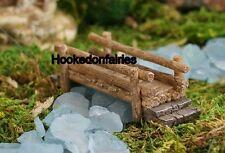 Miniature Wooden Look Bridge  4507 Dollhouse Fairy Garden
