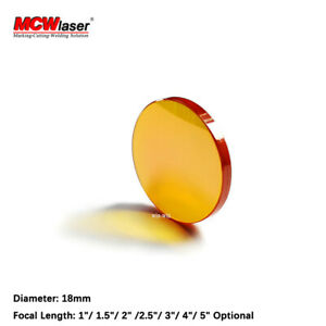 MCWlaser Dia.18mm ZnSe Focus Lens For CO2 Laser Engraving Cutting Machine