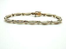 "Good Cut Yellow Gold Fine Diamond Bracelets 7 - 7.49"" Length"