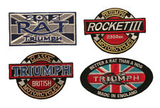 Triumph Motorcycles Patches, Iron/ Sew On, 4 Piece Patch Set (3 Inch)
