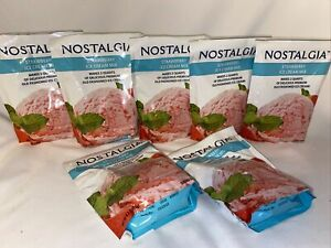Nostalgia Premium Strawberry Ice Cream Mix 8 Packs Each Makes 2 Qts Exp 03/23/23