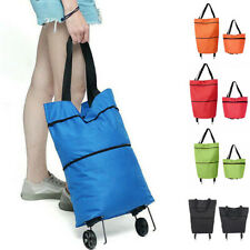 Foldable Shopping Bag Trolley Oxford Cart On Wheel Handbag Eco Friendly Reusable