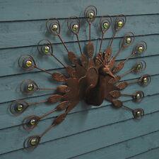Gardman Fan-Tailed Peacock Decorative Metal Wall Art for the Garden & Home *New*