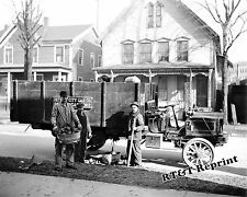 Historical Photograph of a Detroit Gas Coal Coke Delivery Truck Year 1910  8x10