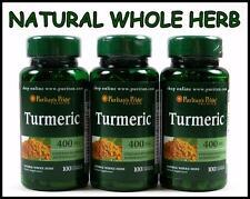Puritans Pride TURMERIC 400mg ~ 300 Capsules ~ Antioxidant Curcuma Longa Tumeric