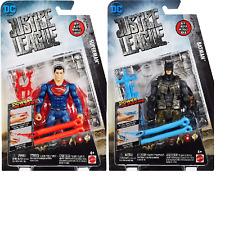 Set of 2 DC Comics Justice League Batman & Superman Power Slinger Action Figures