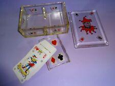 Ancienne boite Coffret de rangement jeux de cartes en verre  - Jeux anciens