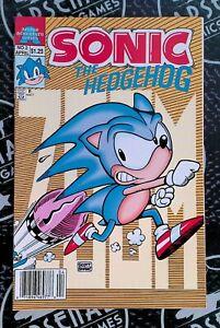 Sonic the Hedgehog #2 Newsstand 1993 Archie Comics Scott Shaw RARE Sega