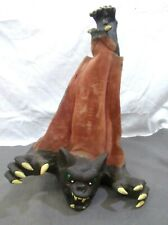 """HANGING HORROR BAT Scary Prop HALLOWEEN Decor RUBBER 17"""" Creature Blood-Thirsty"""