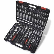 "vidaXL 1/4"" & 3/8"" & 1/2"" Drive Socket Bit Set 193 pcs with Ratchet Tool Set"