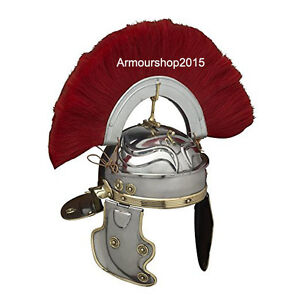 Roman Centurion Helmet Armour Red Crest Plume