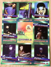 VINTAGE FANTASIA III 1997 RAVE DJ BASEBALL CARDS RARE FLYER w/RABBIT IN THE MOON