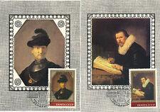 5 Maxi-Cards Russland, Rembrand, Gemälde, Maler    12/5/15