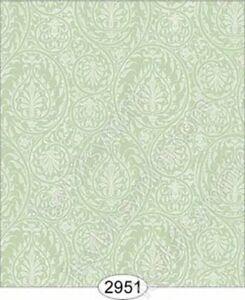 Dollhouse Quarterscale Wallpaper - Cottage Chic - Green Mint