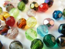 1000Pc 4mm Fire Polished Czech Glass Faceted Round Beads Mixed AB Lot (FC401)