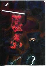 Star Wars Galaxy 7 Etched Foil Puzzle Chase Card #6
