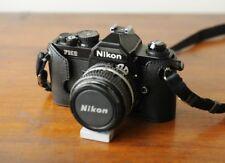 Handmade Genuine Real Leather Camera Case Bag Cover Black NIKON fm2 fe2 fm3a New