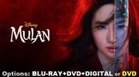 MULAN * Options to choose from: BLU-RAY+DVD+DIGITAL or DVD * with Free Shipping