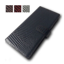 Cell Phone Wallet Case For Galaxy S 21 20 Note Ultra Plus Lizard Natural Cowhide