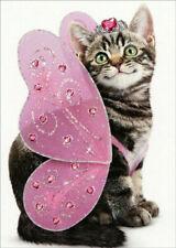 Kitten Butterfly Cute Cat Valentine's Day Card Avanti Press