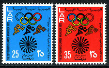 Libya 483-484, MNH. Olympics Munich. Emblem, 1972