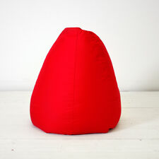 Extra Large Poppy Red Cotton Indoor Pear Chair Seat Beanbag Bean Bag with Beans