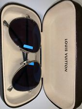 d0545fe0a5 LOUIS VUITTON Metal Frame Black Petite Viola Pilot Sunglasses RARE USED